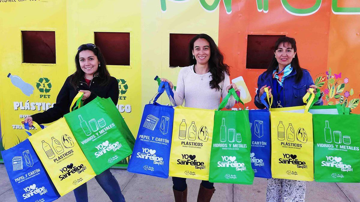Campaña #YoquieroSanFelipeLimpio reconocerá a vecinos que reciclan y usan los puntos limpios que hay en la comuna