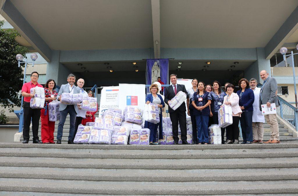 Autoridades entregan cerca de 30 mil pañales en Hospital Carlos Van Buren