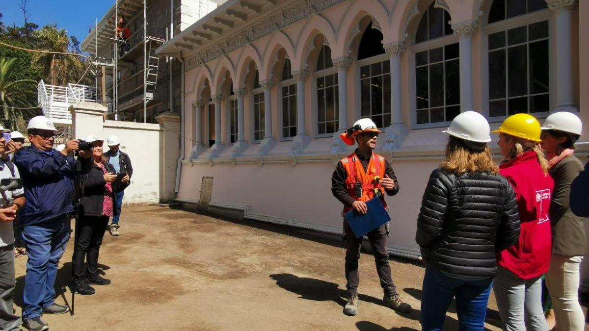 Restauración de Palacio Vergara presenta cerca de un 80% de avance y ya muestra color original de estilo Venenciano