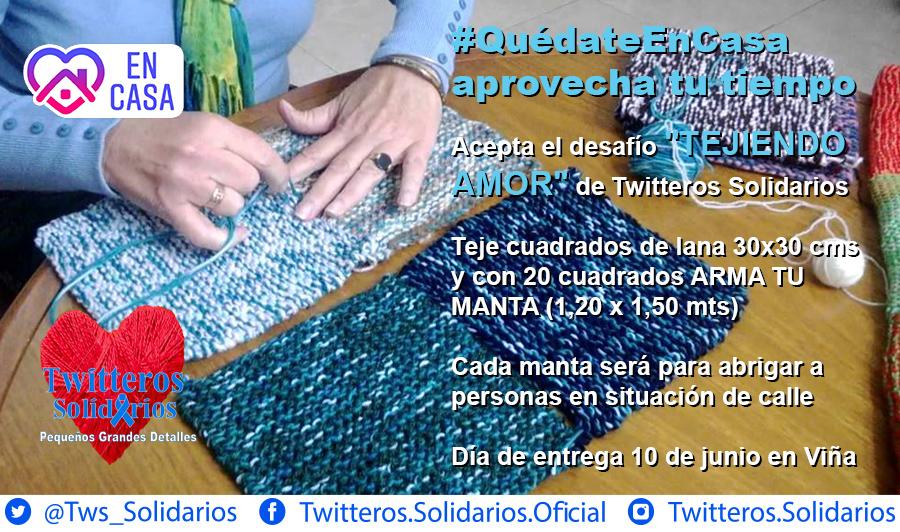 Twitteros Solidarios lanza original campaña para abrigar a las personas en situación de calle