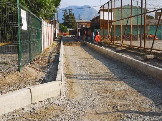 70% de avance tienen obras de nuevos pavimentos en calles y pasajes en la región