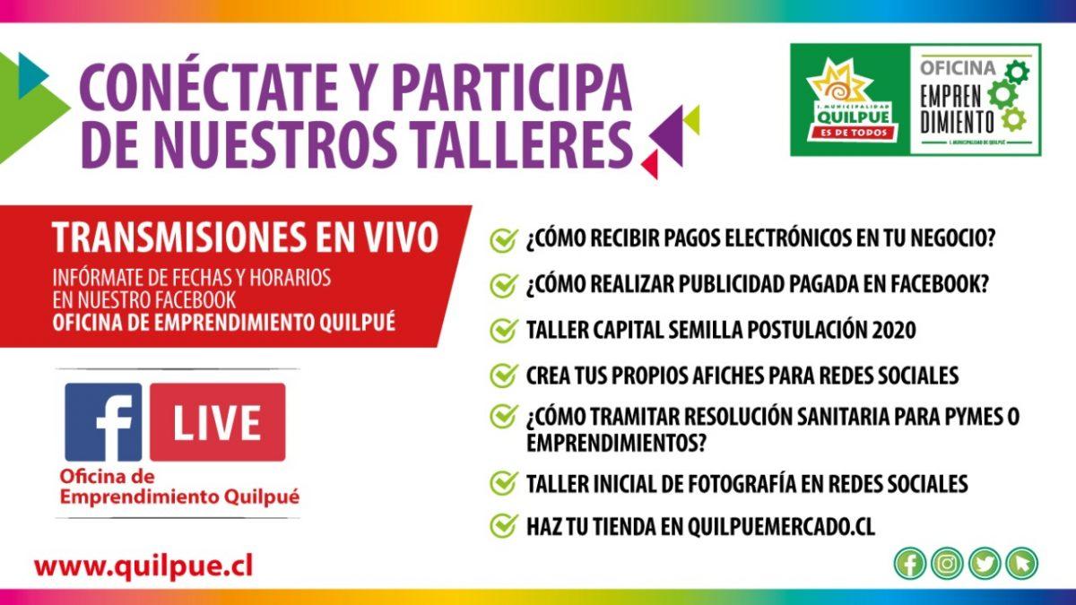 Municipalidad de Quilpué ofrece talleres para apoyar a emprendedores y Pymes