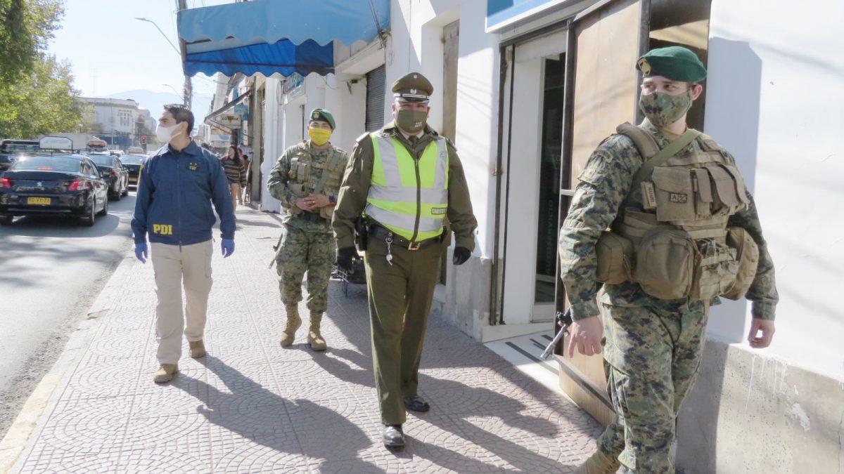 Ejército, PDI y Carabineros intensifican fiscalizaciones de medidas de prevención de Coronavirus en la provincia