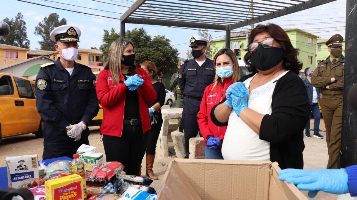 En Villa Alemana se dio inicio a la entrega regional de las cajas de alimentos complementarios anunciadas por el Presidente Piñera