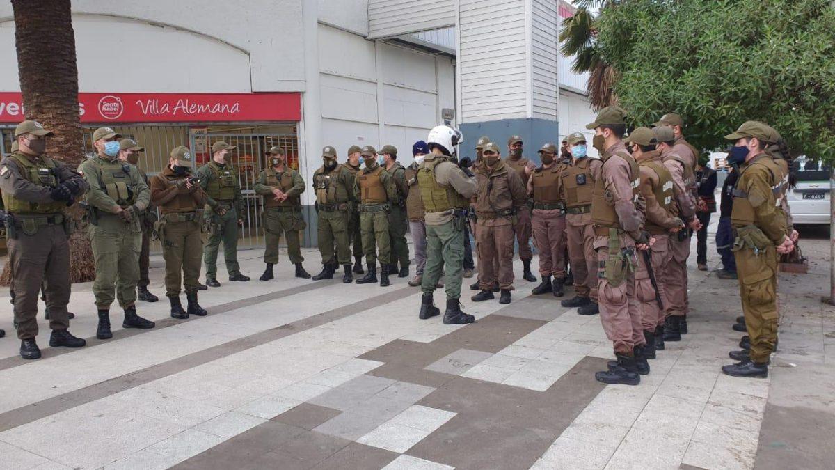 Refuerzan trabajo policial en Villa Alemana para impedir que ambulantes de ciudades en cuarentena se trasladen a la comuna.