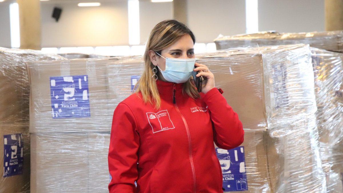 Hoy se despacharon útlimas cajas Alimentos para Chile a municipios completando 300.000 en la región.