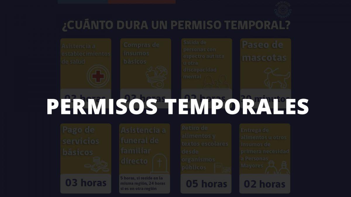 Estos son los casos en que puedes obtener un Permiso Temporal para transitar en las comunas que se encuentran en #Cuarentena.