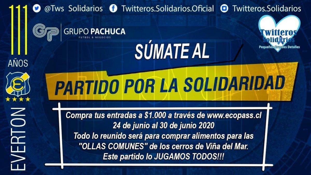 Everton y Twitteros Solidarios se unen para apoyar  Ollas Comunes de Viña del Mar