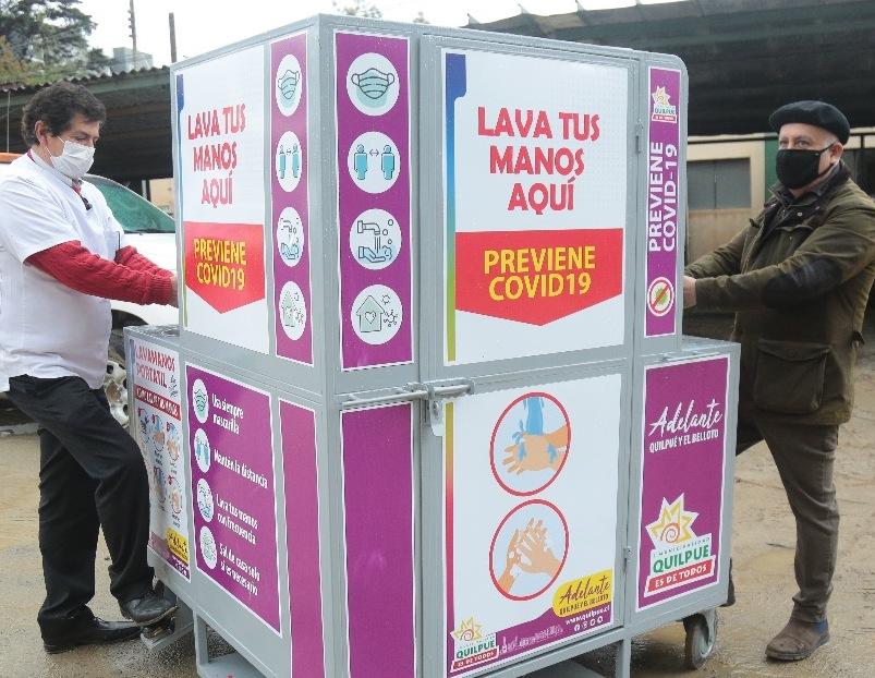 Municipalidad de Quilpué instala  primeros lavamanos en el centro