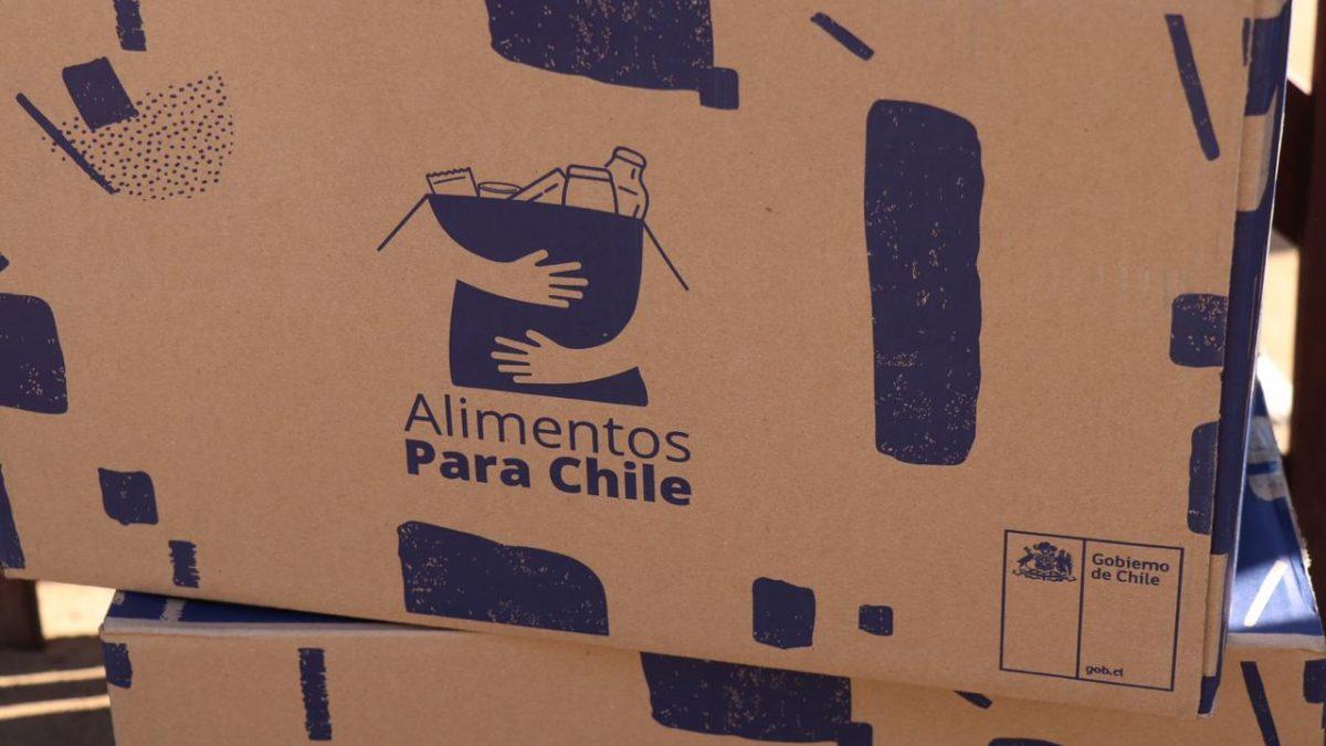 Gobierno finaliza entrega a municipios del 100% de cajas  Alimentos para Chile y ayuda llegará a medio millón de familias en la región
