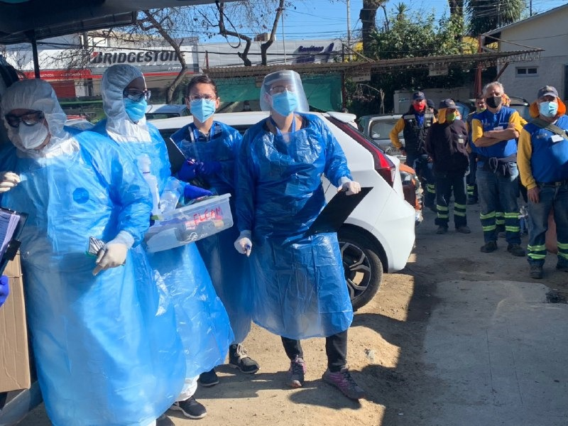 Realizan examen PCR a trabajadores de aseo de la Municipalidad de Viña del Mar