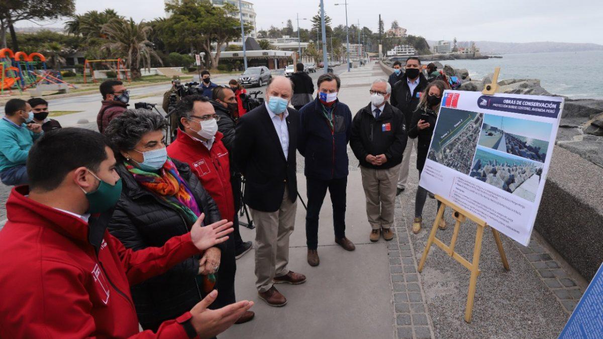 Ministerio de Obras Públicas construirá infraestructura de protección costera en la Avenida Perú de Viña del Mar