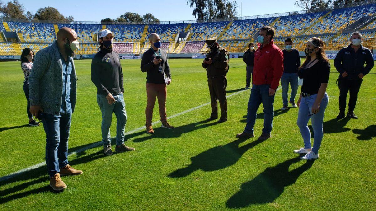 Todo listo en el Estadio Sausalito para recibir el duelo Everton vs CD Antofagasta