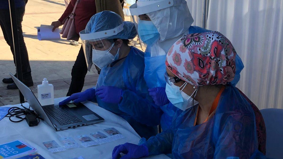 Ante aumento de casos Covid-19 avanzada territorial de Villa Alemana intensifica testeo masivo de PCR previo a fiestas de fin de año