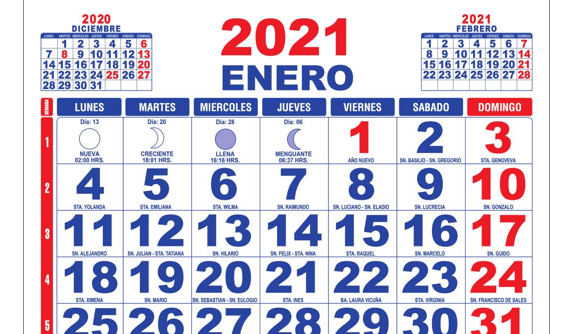 Feriados 2021: los días festivos y fines de semana largo este año en Chile