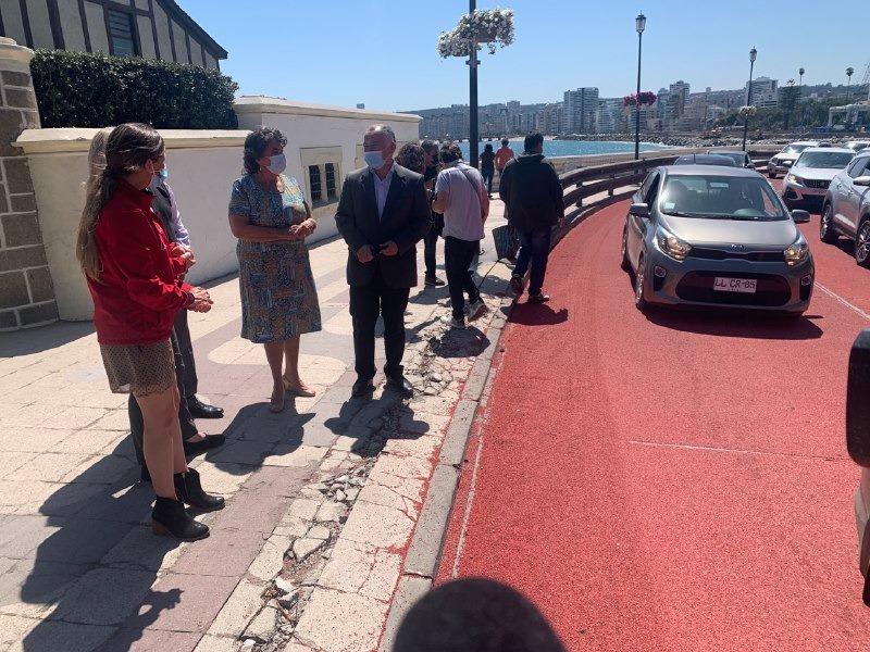 Viña del Mar: Fortalecen seguridad vial en Av. La Marina con aplicación de sello que aumenta adherencia de neumáticos