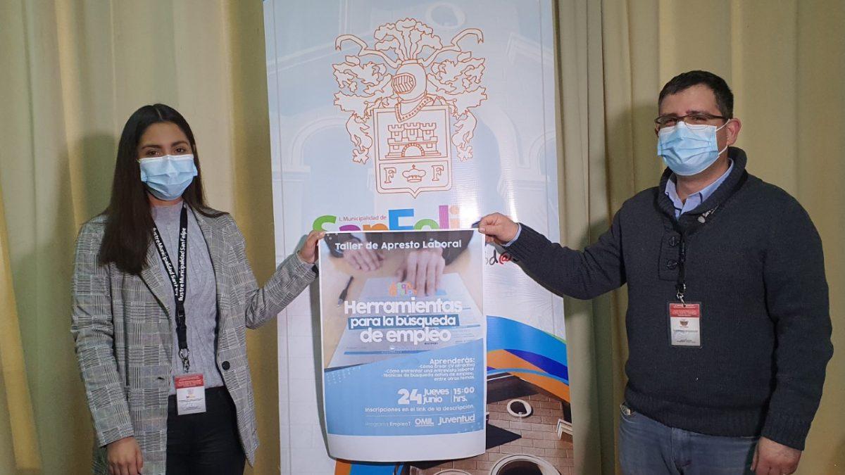 Oficina de la Juventud y OMIL de san Felipe  invitan a participar en taller de apresto laboral