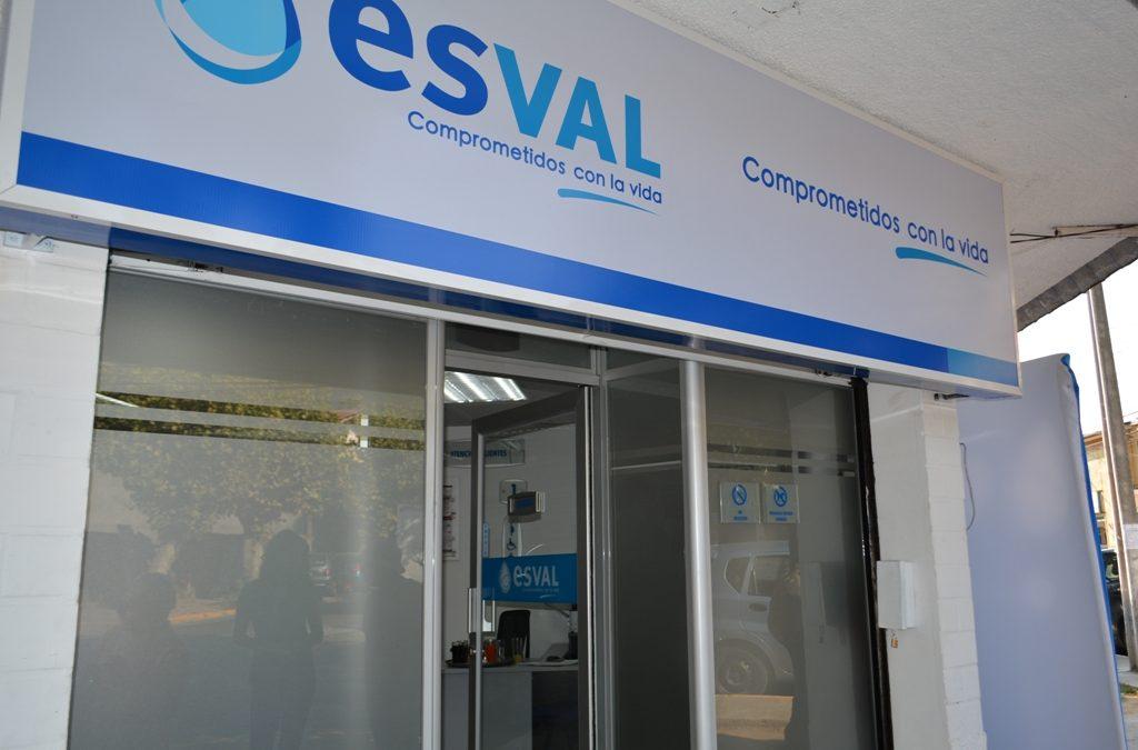 Esval reabrirá este jueves sus oficinas en 4 comunas del Valle de Aconcagua