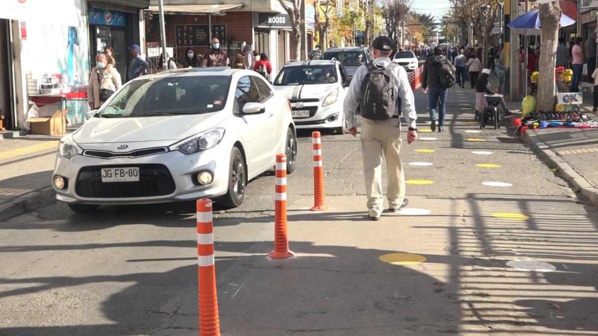 Municipalidad realiza obras para evitar aglomeraciones en el centro de Quilpué