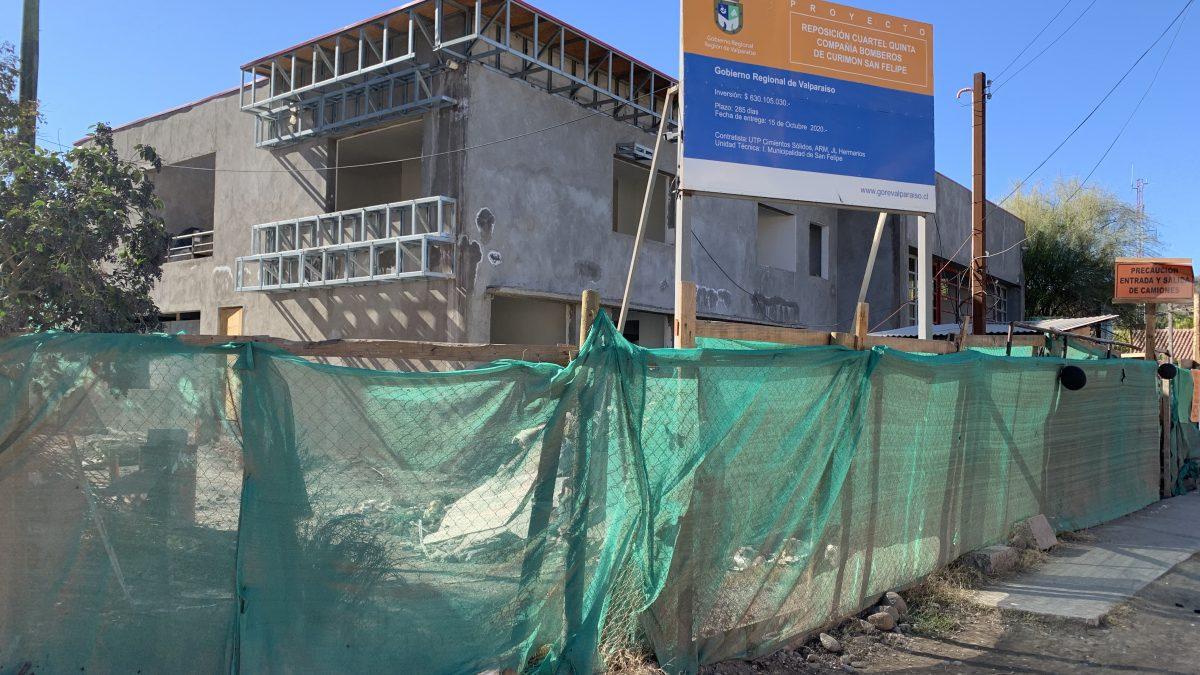 Municipalidad de San Felipe compromete gestiones para reanudar trabajos del nuevo Cuartel de Bomberos de Curimón