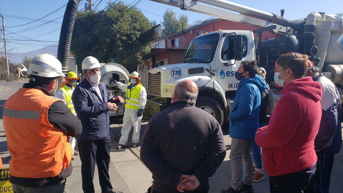 Esval avanza con mantenimientos preventivos para un invierno seguro en el Valle de Aconcagua