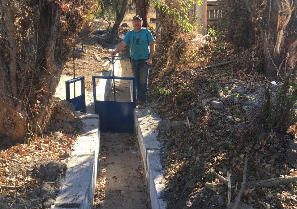Agricultores de San Esteban optimizan riego gracias a revestimiento de canal