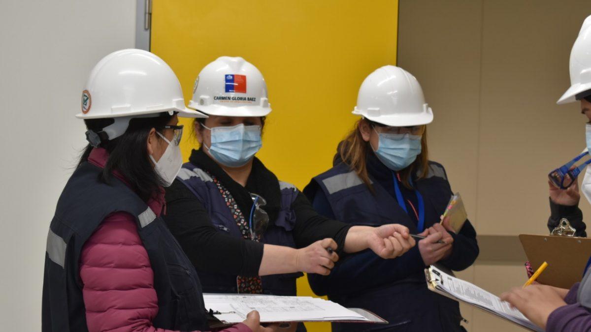 Personal de la SEREMI de Salud realizan visitas de fiscalización a obras del nuevo Hospital Claudio Vicuña de San Antonio