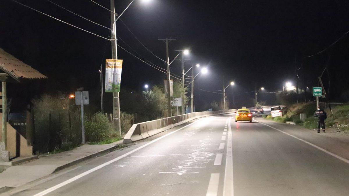 2.500 personas del Camino Internacional fueron favorecidas con luminaria LED