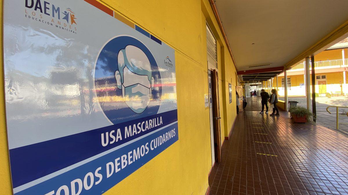 Educación municipal de Los Andes retorna a las clases presenciales este 23 de agosto