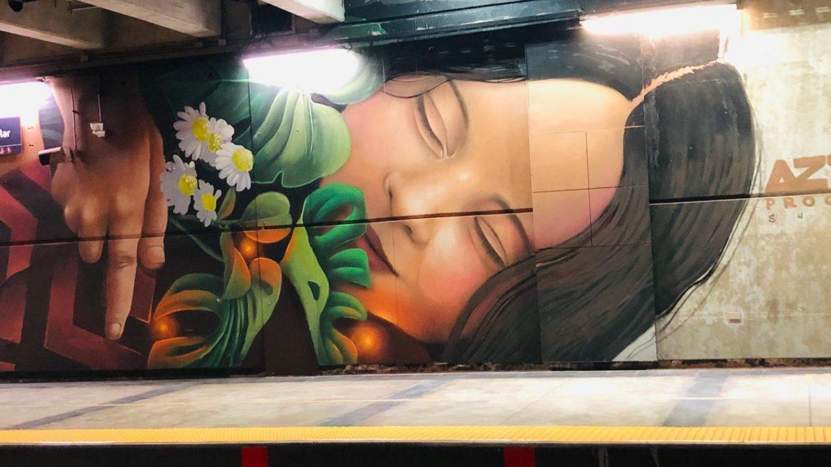 Estación Viña del Mar estrena dos nuevos murales de gran formato en sus andenes