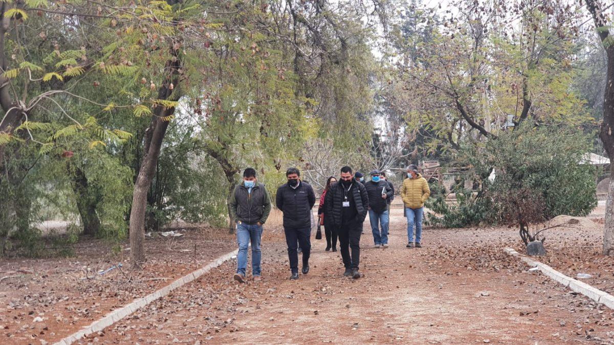 Con una visita inspectiva comienzan las primeras acciones para lograr la apertura del Parque Cordillera
