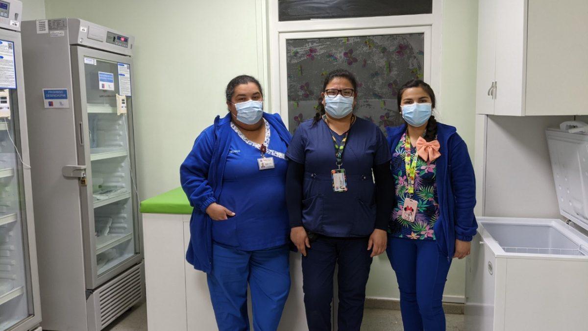 Remodelan vacunatorio del Hospital Adriana Cousiño de Quintero