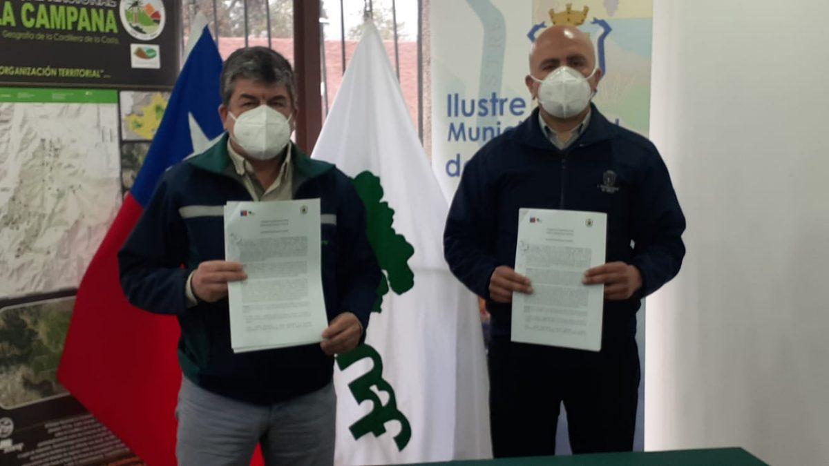 Municipalidad de Olmué y CONAF firman convenio de colaboración