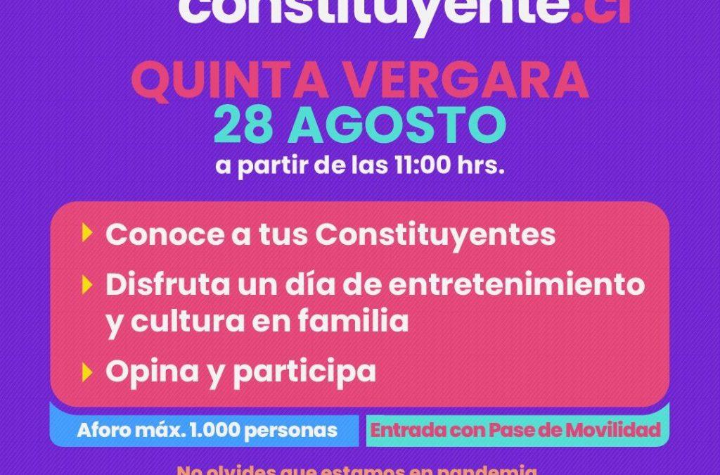 Viña Constituyente: Municipio, con participación de los convencionales, lanzará desde la Quinta Vergara programa de participación ciudadana