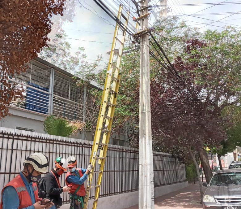 Comienza el retiro de cables aéreos en el centro de Los Andes